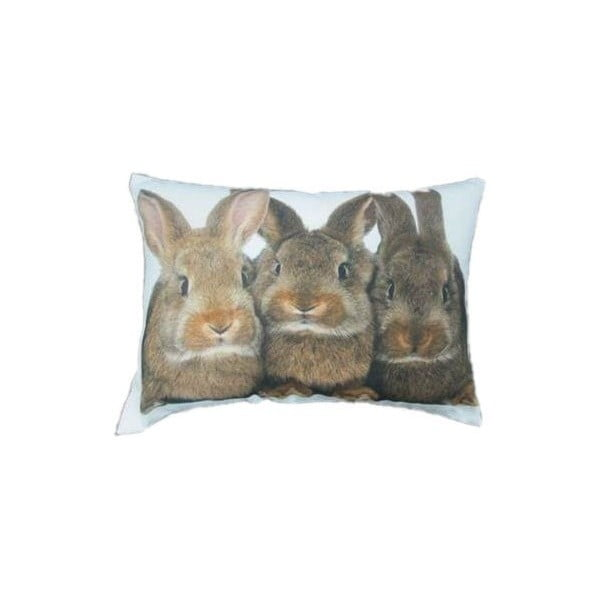 Poduszka Three Brown Rabbits 50x35 cm
