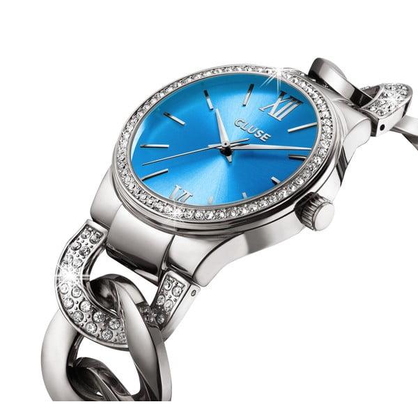 Zegarek damski Brillante Silver/Blue Lagoon, 38 mm