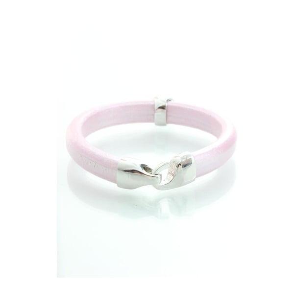 Różowa bransoletka z kryształami Swarovskiego Yasmine Clap