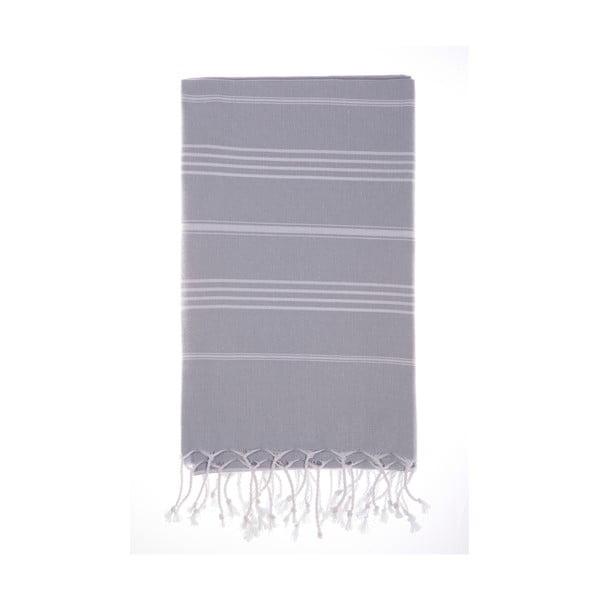 Ręcznik Hamam Cesme Grey, 100x180 cm