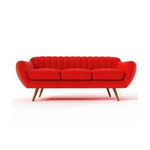 Czerwona   sofa trzyosobowa Wintech Azzurre