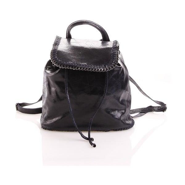 Plecaczek skórzany Emily, granatowy
