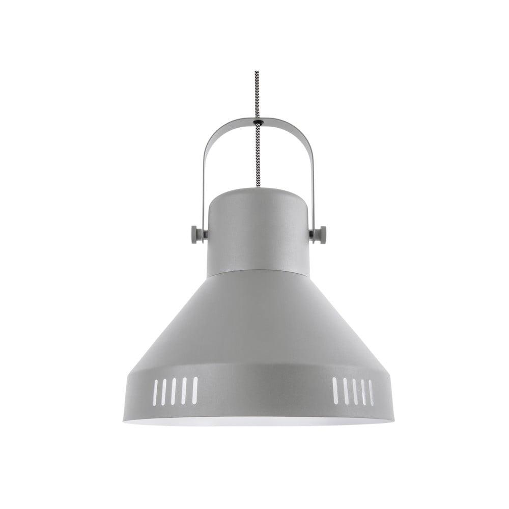Szara lampa wisząca Leitmotiv Tuned Iron,ø35cm