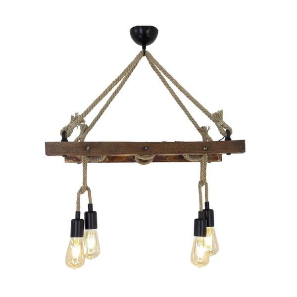 Drewniana lampa wisząca Halat