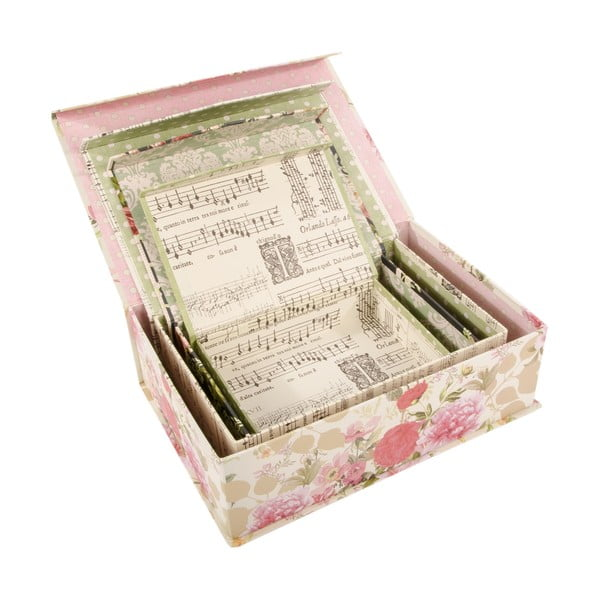 Zestaw 4 pudełek French Garden
