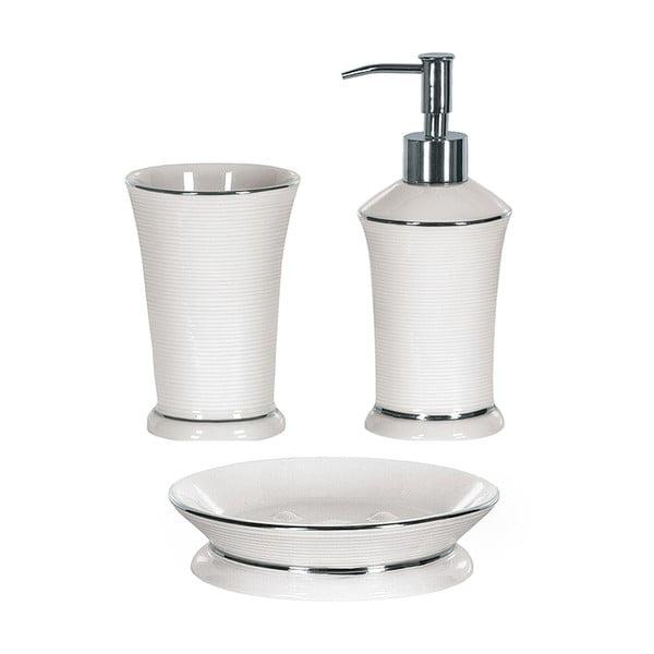 Zestaw akcesoriów łazienkowych Ascot White/Silver