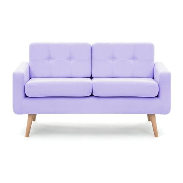 Pastelowo-fioletowa sofa 2-osobowa Vivonita Ina