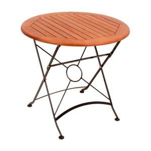 Ogrodowy stół rozkładany z drewna eukaliptusowego ADDU Vienna, ⌀80cm