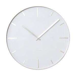 Czarny zegar ścienny Present Time Belt