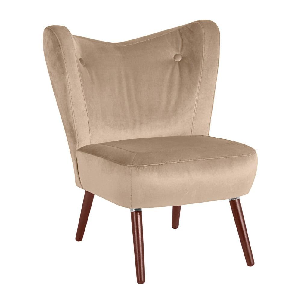 Beżowy fotel Max Winzer Sari Velvet