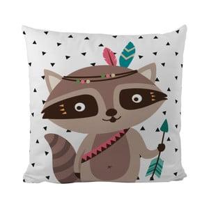 Poduszka Mr. Little Fox Indian Raccoon, 50x50cm
