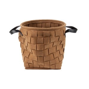 Brązowy kosz do przechowywania z uchwytami PT LIVING Storage Bag, ⌀34cm