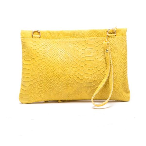 Skórzana torebka Roberta M. 808 Giallo