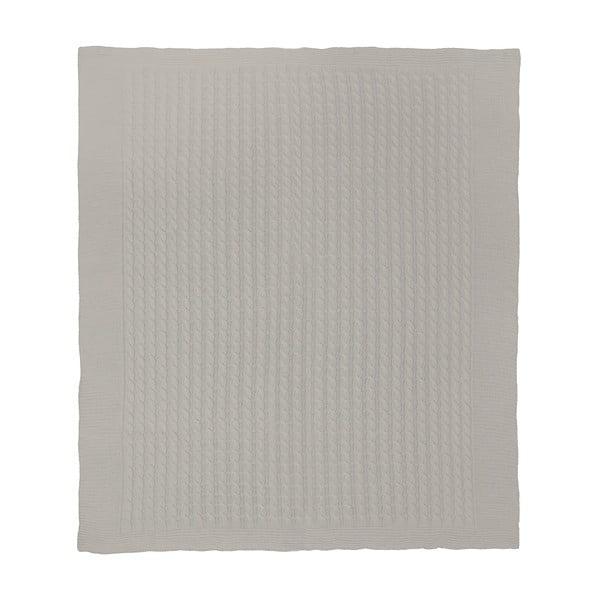 Pleciony koc Marvel Stone, 130x170 cm