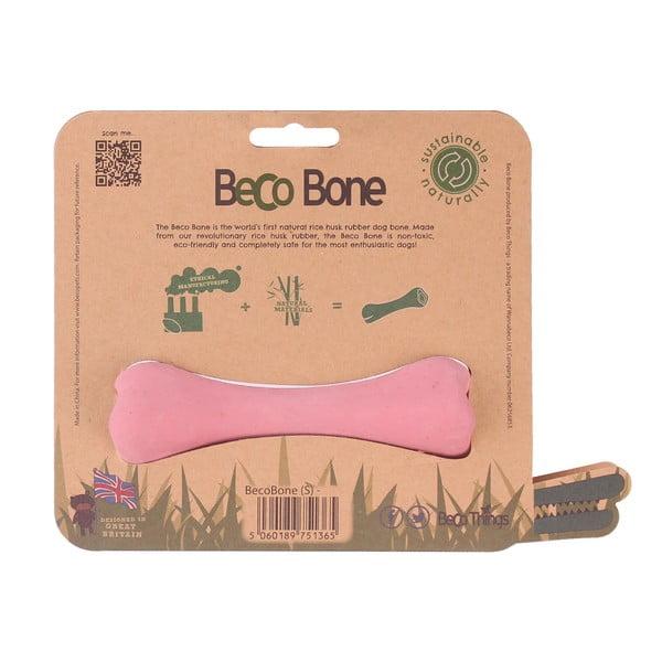 Gumowa kość Bone Small, różowa