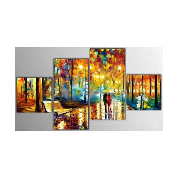 Czteroczęściowy obraz Art Park, 50x100 cm