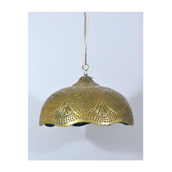 Klosz mosiężny Radżastan, złoto-turkusowy