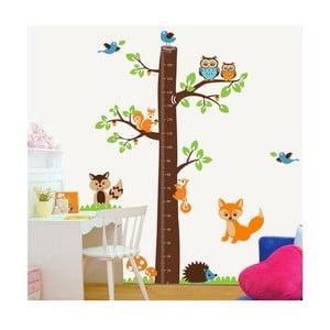 Naklejka dekoracyjna Tree & Little Owls, 185x182 cm