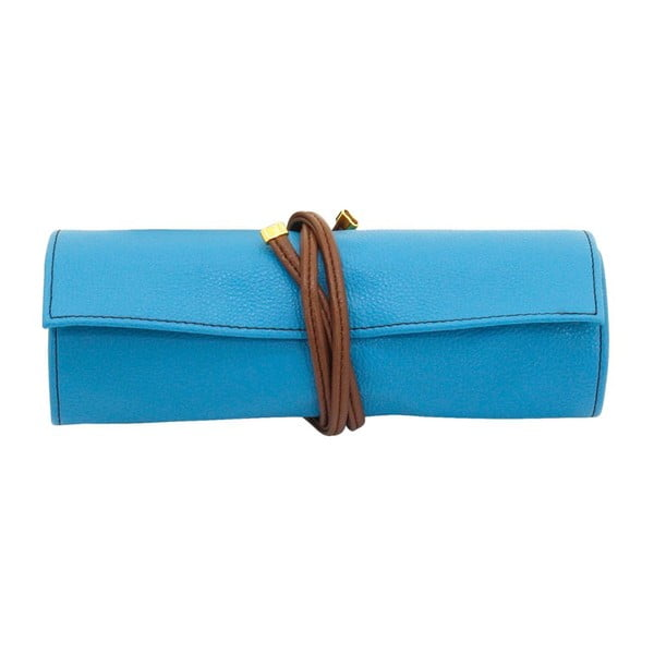 Etui na biżuterię Ascot Roll Azure Blue, 20x8x6 cm