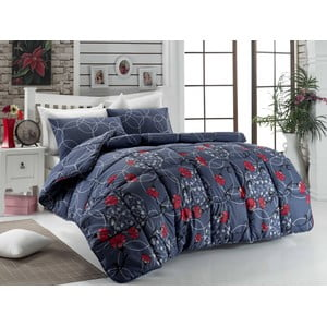 Narzuta pikowana na łóżko dwuosobowe Seval Dark Blue, 195x215 cm