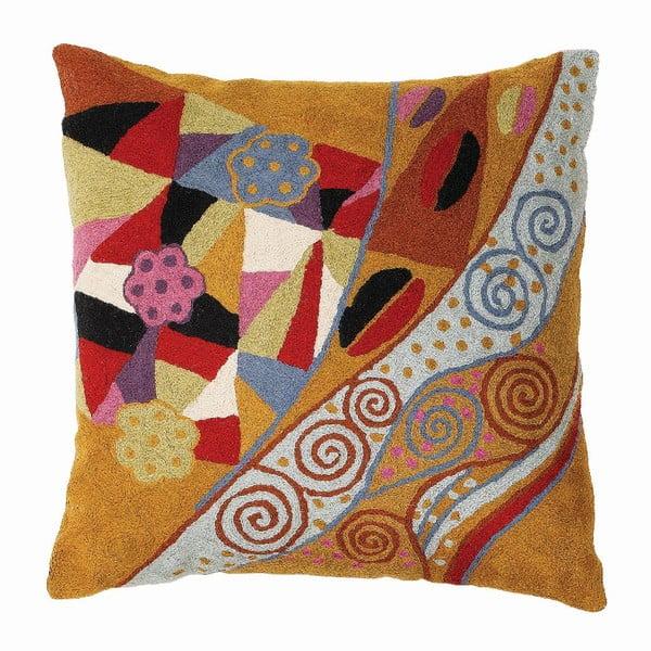Poszewka na poduszkę Klimt Blue/Tan, 45x45 cm