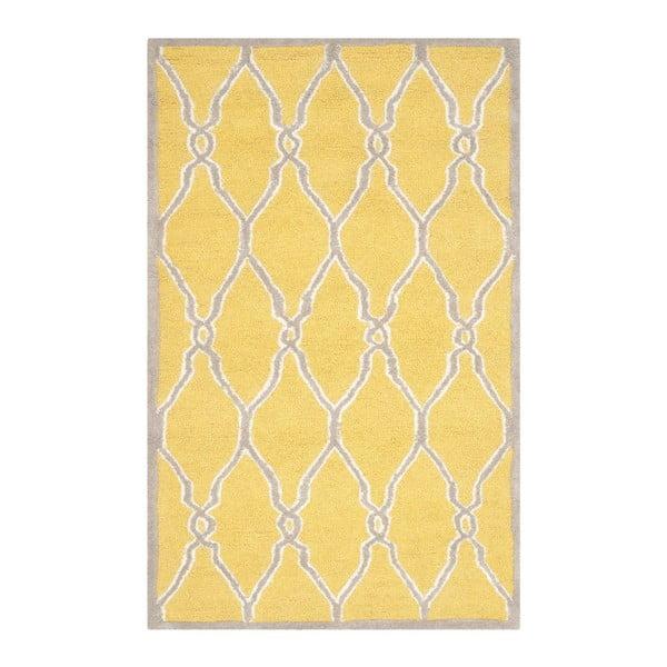 Dywan wełniany Augusta Yellow, 91x152 cm