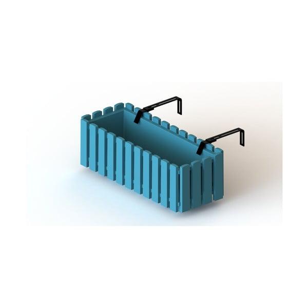 Turkusowa doniczka z systemem nawadniania Gardenico Fency Smart System, dł. 50 cm
