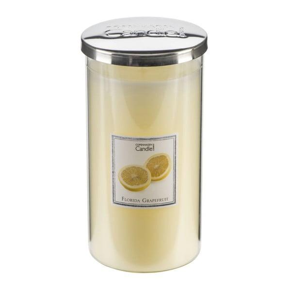 Świeczka zapachowa o zapachu grejpfrutu Copenhagen Candles Florida Tall, czas palenia 70 godz.