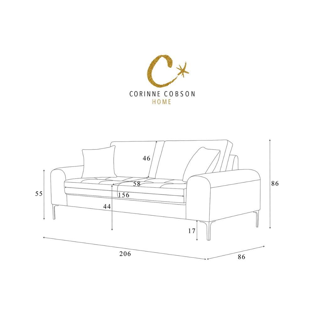 ta sofa trzyosobowa corinne cobson dillinger bonami. Black Bedroom Furniture Sets. Home Design Ideas