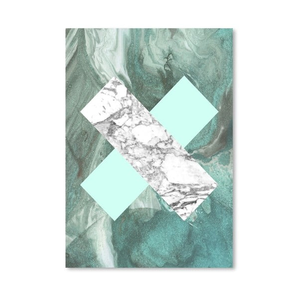 Plakat Geometric Marble X