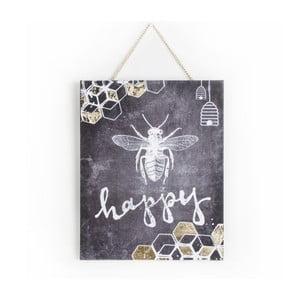 Obraz Graham & Brown Bee Happy, 40x50 cm