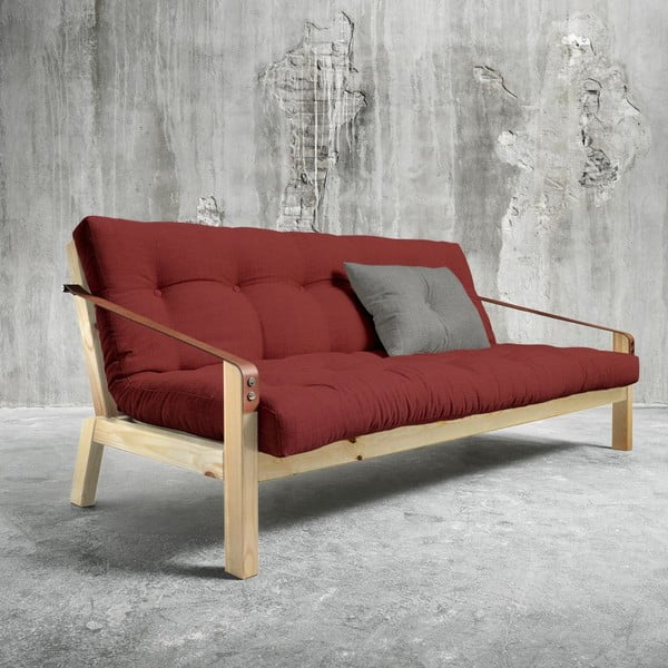 Sofa rozkładana Karup Poetry Natural/Passion Red/Granite Grey