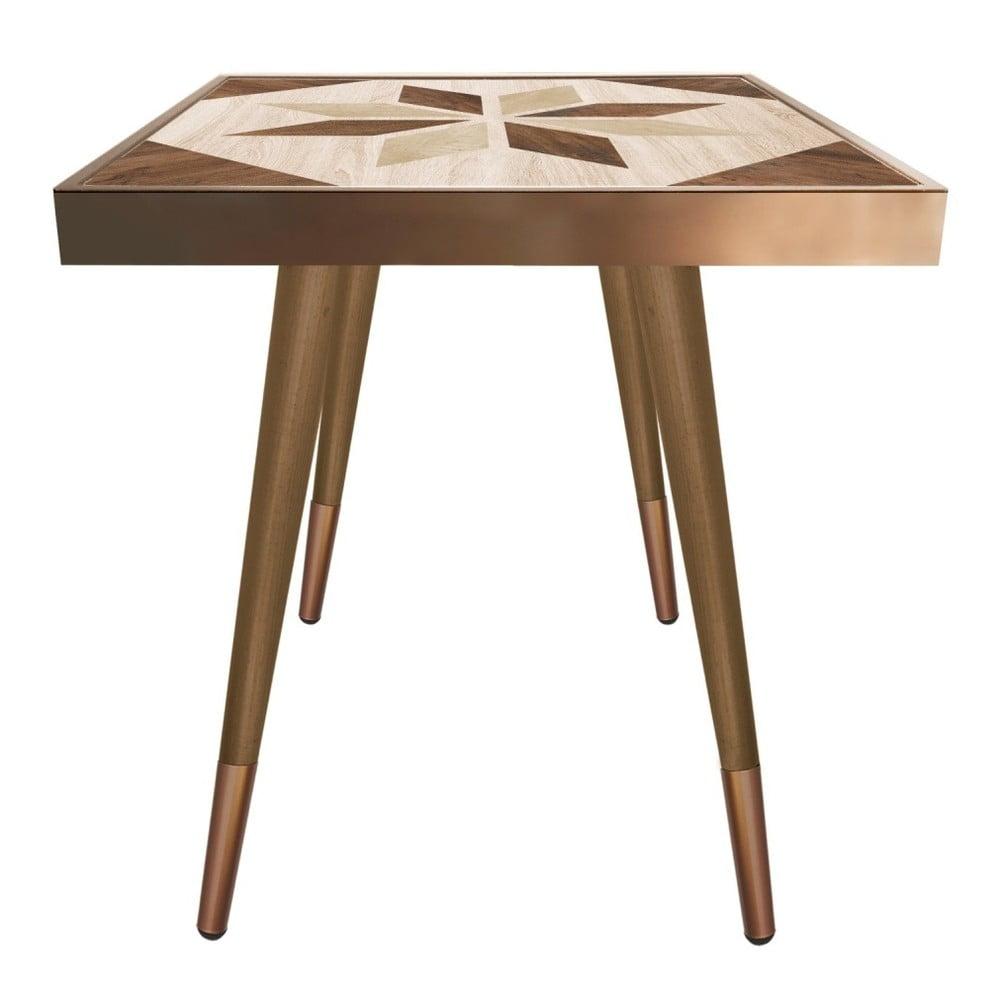 Stolik Caresso Wooden Star Square, 45x45 cm