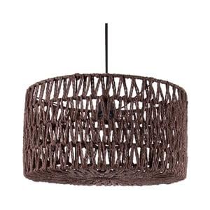 Brązowa lampa wisząca Leitmotiv Paper Rope Straight
