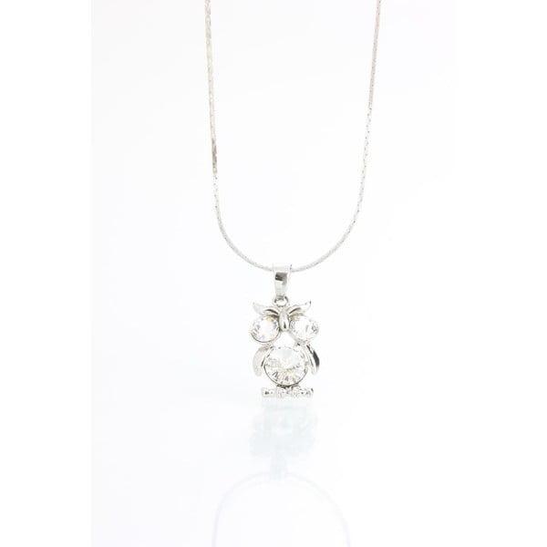 Naszyjnik z kryształami Swarovskiego®, biała sowa