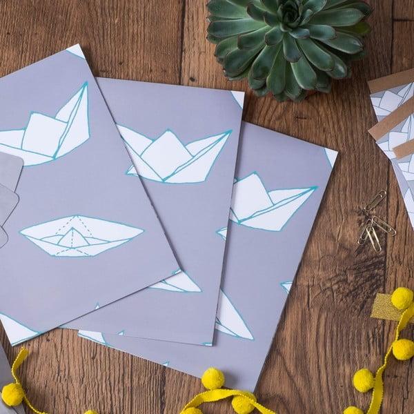 Papier ozdobny Boats, 3 listy