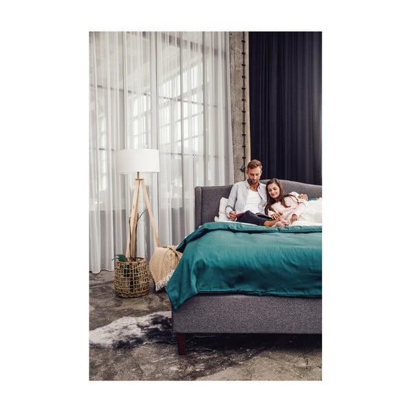 Antracytowoszare łóżko 2-osobowe Chez Ro Hobro, 180x200 cm