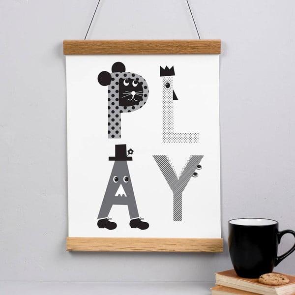 Plakat Play Grey, 30x40 cm