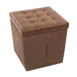 Stołek Box Brown, 40x40x44 cm