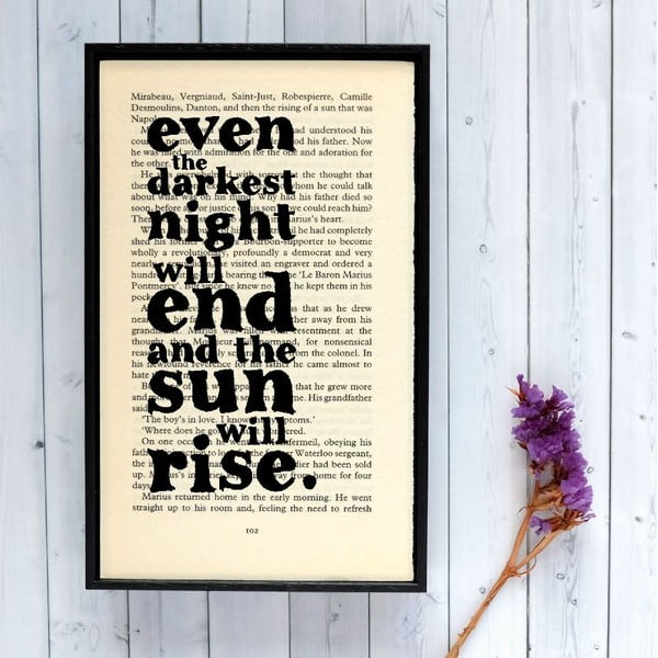 Plakat w   drewnianej ramie Les Misérables Sun