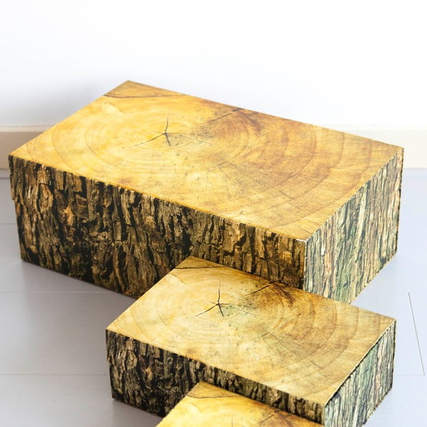 Pudełko Woodblock, 48x20 cm