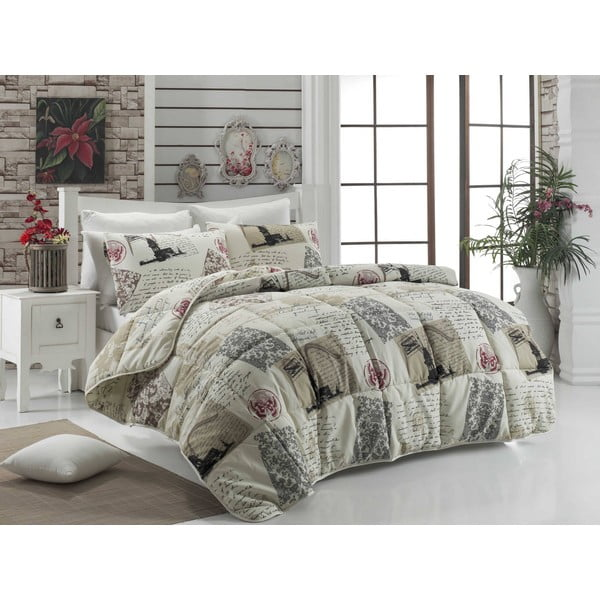 Narzuta pikowana na łóżko dwuosobowe Pamela, 195x215 cm