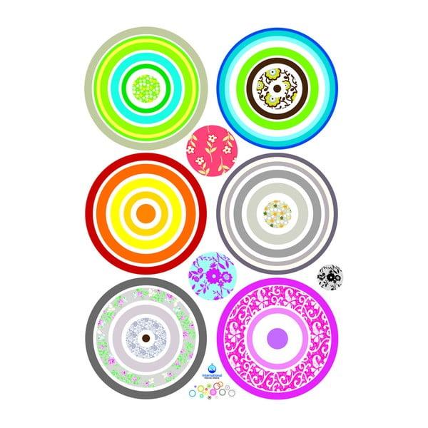 Zestaw naklejek Ambiance Colorful Bubbles