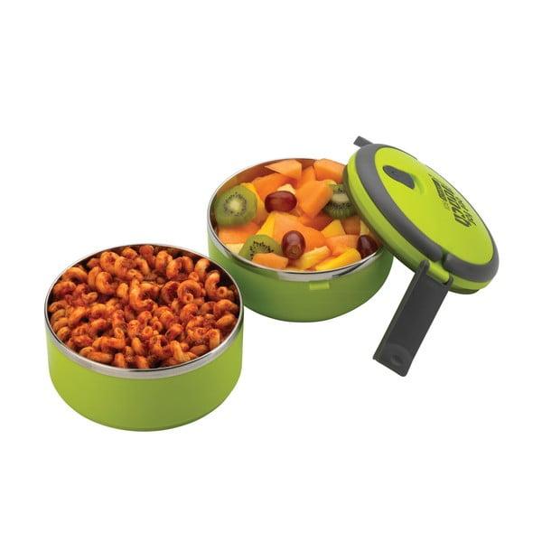 Zielony okrągły pojemnik na lunch Pioneer lunchbox