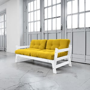 Sofa rozkładana Karup Step White/Amarillo