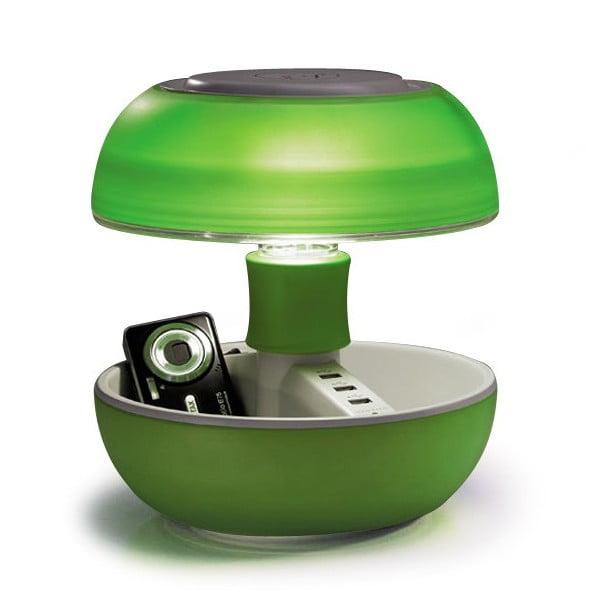 Lampa stołowa i ładowarka w jednym Joyo Light, zielona