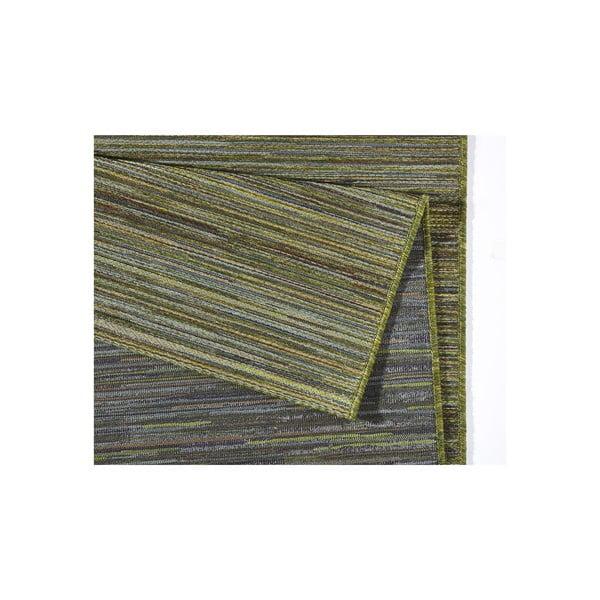 Dywan nadający się na zewnątrz Lotus 80x240 cm, zielone paski