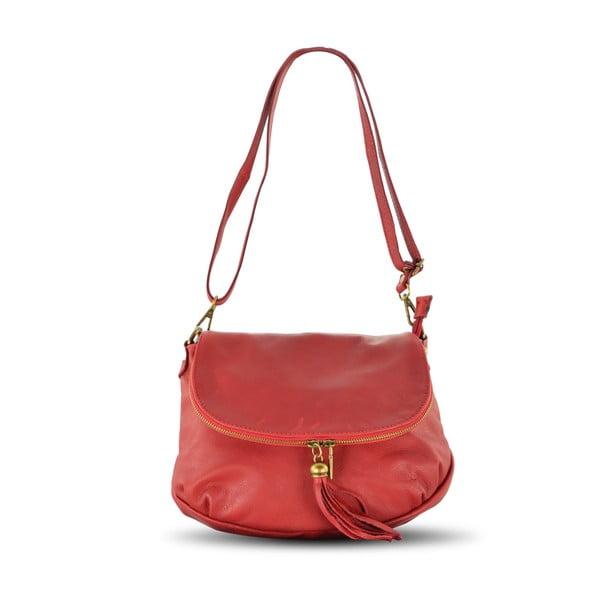 Skórzana torebka Celia, czerwona