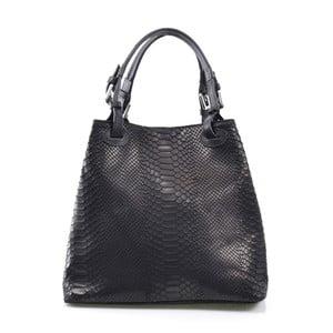 Skórzana torebka Ingrid, czarna