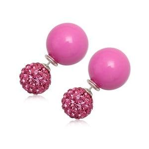 Kolczyki Double Pearl Pink